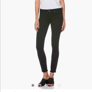 Paige black distressed skinny jeans